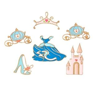 Disney Cinderella Enamel 6 Piece Pin Set
